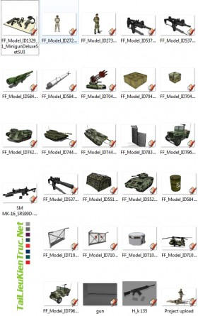 Thư viện Sketchup - Quân đội 0015