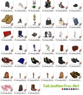 Thư viện Sketchup - Quần áo, giầy dép 0018