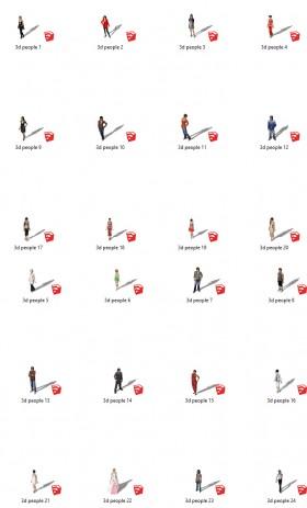 Thư viện Sketchup - Người 3D hot boy hotgirl 0032