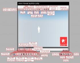 Thông số trong khung Render (Vray Frame Buffer)