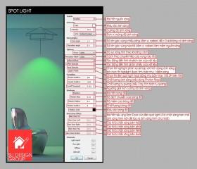 Thông số đèn trong vray 2.0 (Vray Light Parameter)
