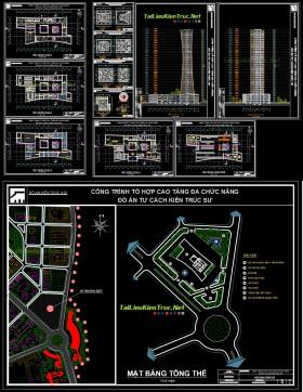 Đồ án tư cách kiến trúc - Tổ hợp cao tầng đa chức năng