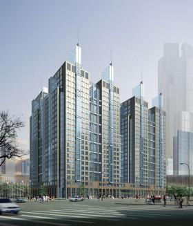 Phối cảnh khu phức hợp chung cư cao tầng L036
