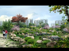 Phối cảnh công viên cây xanh công cộng  L105