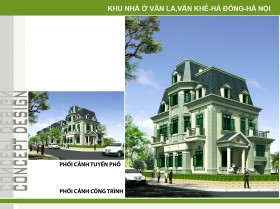 Hồ sơ thiết kế Biệt thự 3 Tầng trên diện tích 10,3x15,2m - 0113 Dự án Văn La - Văn Khê
