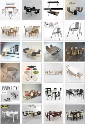 Tổng hợp 24 Model Bàn ghế tổng hợp các loại 00014