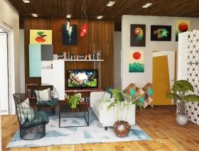 Phối cảnh nội thất 3DsMax phòng khách phong cách hiện đại 00057